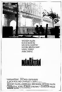 Hugeラミネート加工/カプセルManhattan–米国映画ポスターサイズ約100x 70cm Greatest映画コレクションdirected by Woody Allen。Starring Woody Allen、ダイアン・キートン、マイケル・マーフィー。