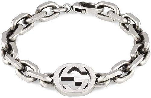 gucci bracciale g a incastro in argento yba627068001018