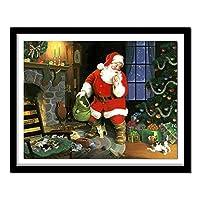 5DランドスケープダイヤモンドペインティングクロスステッチクリスマスデコレーションホームDIYダイヤモンド刺繡サンタクロースパターンラインストーン