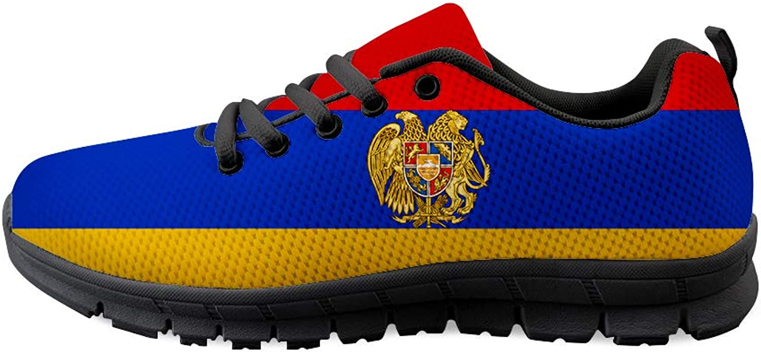 Owaheson Lace-up Sneaker Training shoes Mens Womens Armenia Flag National Emblem