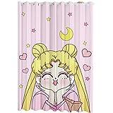 Showkig Fenêtre Rideaux Cartoon, Kinto Tsukino Usagi Rideaux, Chambre Rideaux occultants Doux Dreamy frais Chambre d'enfant Princesse Rideaux for les enfants Nursery Chambre Oeuvre d'art