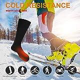 Elektrische beheizte Socken, 1 Paar Batterie warme Socken kaltes Wetter Thermische Socken Sport Outdoor Camping Wandern warme Winter Socken für Männer Frauen - 6