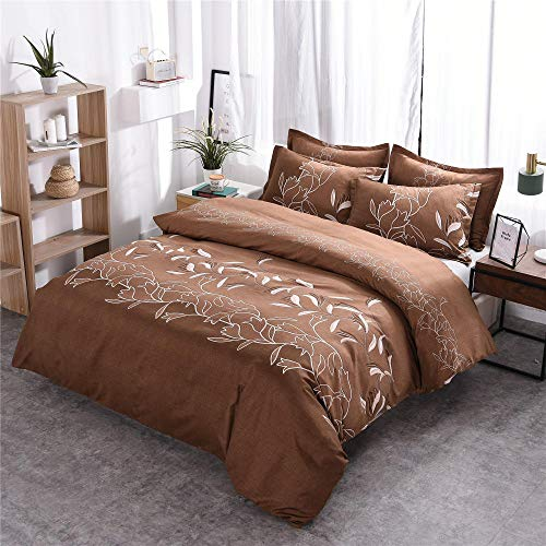 DYWLQ Duvet Cover Quilt Bedding Set With Pillowcase,Simple plain printing bedding,concealed zipper-05_EU_Double