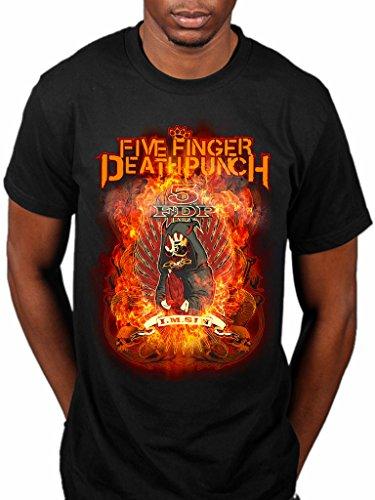 Producto oficial de Five Finger Death Punch BURN en la banda de pecado camise...