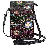 XCNGG Pluma de rayas de colores Cicle Monedero para teléfono celular Bolso...