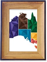 DIYthinker Australia Map Territory State Colorful Photo Frame Desktop Display Picture Art Painting Holder