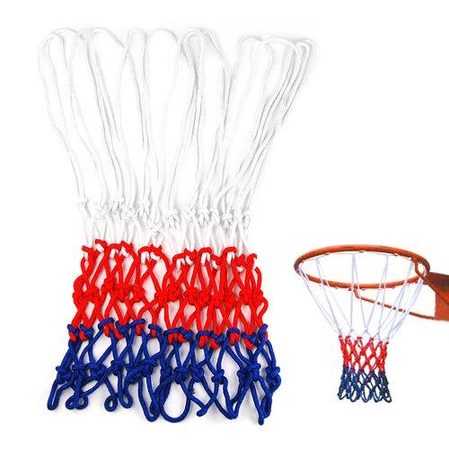TOOGOO (R) Standard Langlebiges Nylon Basketball Goal Korb-Netz Rot/ Weiss/ Blau