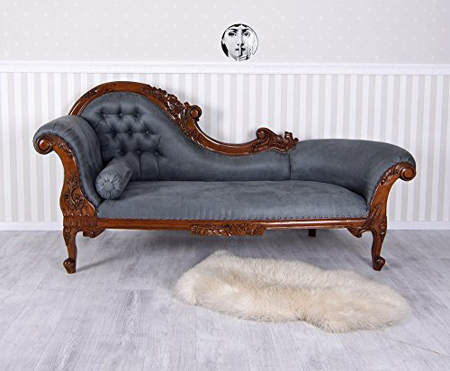 Gigant Chaiselongue Samt Sofa Chippendale Recamiere XXL Sitzbank Royal mar124 Palazzo Exklusiv