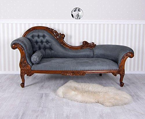 Gigant Chaiselongue Samt Sofa Chippendale Recamiere XXL Sitzbank Royal mar124 Palazzo Exklusiv