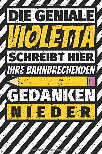Notizbuch liniert: Violetta Geschenke lustiger Spruch Vorname