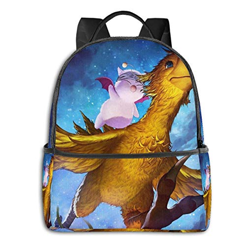IUBBKI Chocobo & Mogry Student School Bag School Cycling Leisure Travel Camping Outdoor Backpack