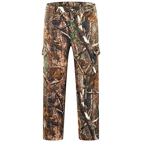 NEW VIEW Hunting Pants for Men Water Resistant Hunting Pant Upgrade Elastic Waistband Pants(Camo Tree, M)