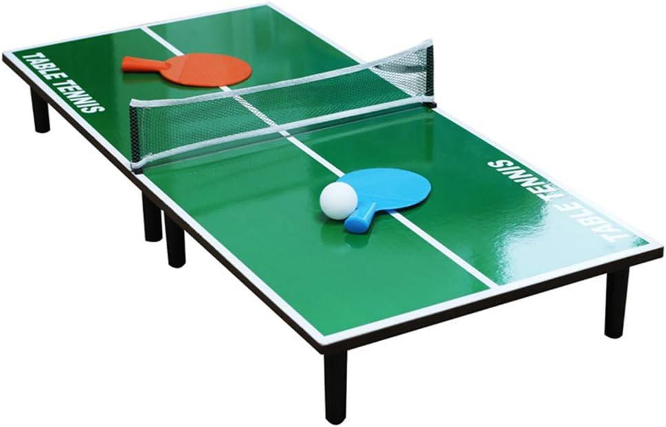 Asotagi Juego de tenis de mesa portátil para interiores de 60 cm x 30 cm, juego de tenis de mesa plegable para mesa de comedor, juego de mesa de ping pong, juegos familiares perfectos