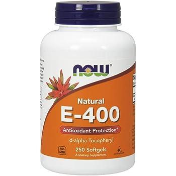 NOW Supplements, Vitamin E-400 IU, D-Alpha Tocopheryl, Antioxidant Protection*, 250 Softgels
