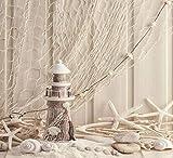 SHUHUI Alfombra temática de Playa Estrella de mar océano,Cocina Absorbente y Duradero cojín de Franela Suave Antideslizante para la habitación de los niños