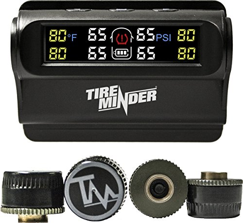 TireMinder Solar Powered Trailer TPMS 4 Tire Kit