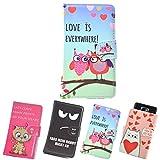 ikracase Motiv Hülle Hülle für Medion Life X5520 Handytasche Handyhülle Schutzhülle Tasche Etui Design 3 - Eule I Love You