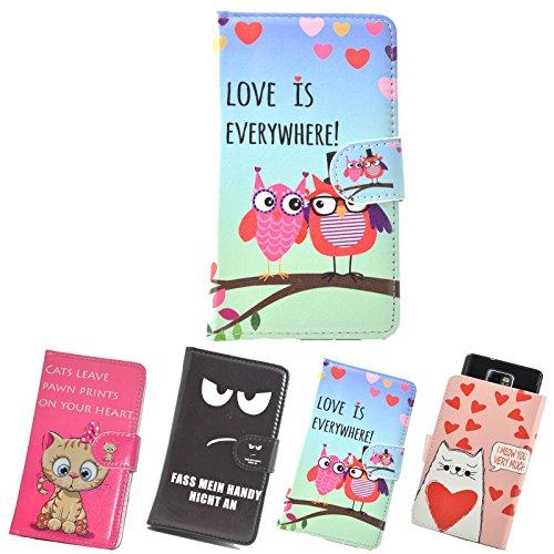 ikracase Motiv Hülle Hülle für Gigaset GS100 Handytasche Handyhülle Schutzhülle Tasche Etui Design 3 - Eule I Love You