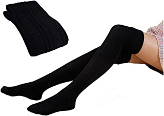 Over Knee Socks for Women, Ribart Cable Knit Winter Warm Long Boot Socks Thigh High Socks Stockings