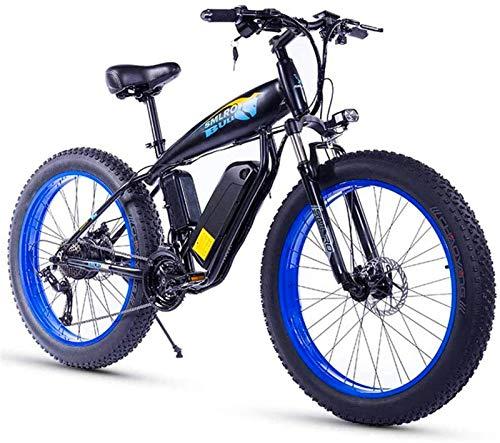 Bicicleta de montaña eléctrica, 26 pulgadas bicicleta eléctrica for el adulto Fat Tire 350W48V15Ah nieve bicicleta eléctrica 27 de velocidad hidráulico del freno de disco 3 modos de trabajo adaptable