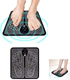 mkyulyp EMS Leg Reshaping Foot Massager, Foot Massage Simulator for The Body, Full Automatic Massage Foot Circulation Massager Body Machine for Men Women 6 Modes 9 Intensity Levels (Battery)