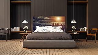 Cabecero Cama PVC Ciudad al Anochecer | Medidas 150x60 cm | Fácil colocación | Decoración Habitación | Motivos paisajisticos | Naturaleza | Urbes | Multicolor | Diseño Profesional