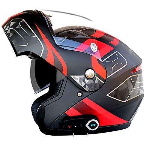 Casco plegable delantero con Bluetooth para motocicleta, aprobado por ECE, scooter ligero para motocicleta, casco modular de choque de bicicleta de calle, cascos de motocross para jóvenes, hombres,