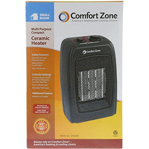 Comfort Zone Ceramic Heater in Black Comfort Heater Space Zone®