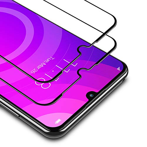 BANNIO für Panzerglas für Huawei Y6 2019 / Y6s 2019 / Honor 8A,2 Stück Full Screen Panzerglasfolie Schutzfolie für Huawei Y6 2019 / Y6s 2019 / Honor 8A,9H Festigkeit Bildschirmschutzfolie,Blasenfrei,Schwarz