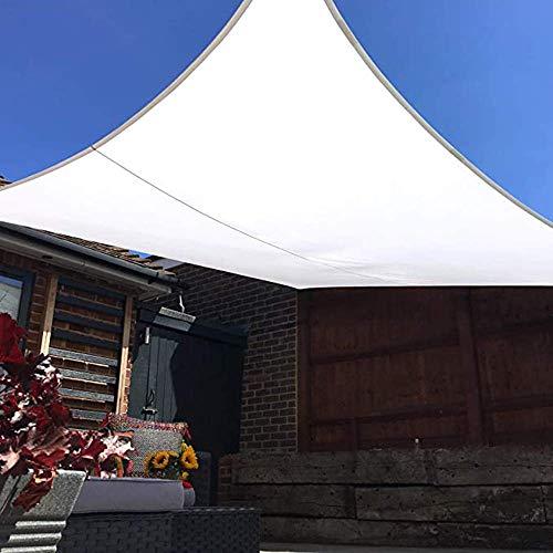 Auvents de Jardin Sun Shade Sail Résistant À l'eau PES Sunscreen Auvent Canopy for Outdoor Patio Yard Party UV Block Hdpe with Free Rope- Rectangle, White