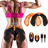 Cinlinso ABS Stimulator Hips Trainer, Electric Buttock Muscle Toner Smart Butt Toner with 6 Modes EMS Fitness Training Gear Workout Shaping Equipment for Women Men