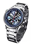 FIREFOX WOLDTIMER FFS40-103 Sunray blau Weltanzeige Chronograph Herrenuhr Armbanduhr Sicherheitsfaltschließe massiv Edelstahl wasserdicht