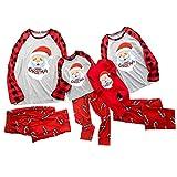 Happy Shop Yz Weihnachten Schlafanzug Familie Herren Damen Christmas Pyjama Set Nachthemd NachtwäSche Hausanzug Eltern Kind Pyjamas Rot Set Familie Bekleidungssets Muster