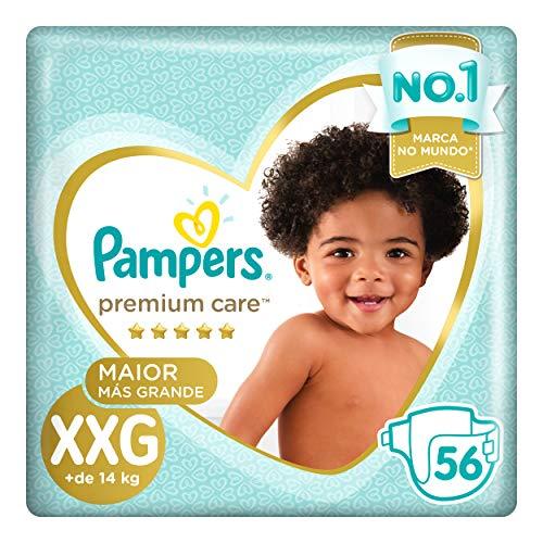 Fralda Pampers Premium Care Jumbo, XXG, 56 Unidades