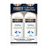 GOLD BOND ULTIMATE Healing Skin Therapy Lotion with Aloe, 20 Oz (2 Pack)
