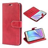 Mulbess Custodia per Samsung Galaxy Note 5, Cover a Libro Samsung Galaxy Note 5, Custodia in Pelle Samsung Galaxy Note 5 Cover per Samsung Galaxy Note 5, Vino Rosso