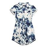 Levi's Girls' Big Short Sleeve Western Dress, Allure, L
