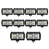 10 pcs 96W 5 Inch Projecteur LED Lampe de travail Barre pour ARRET - Air Route Camion ATV Conduite lampe de brouillard
