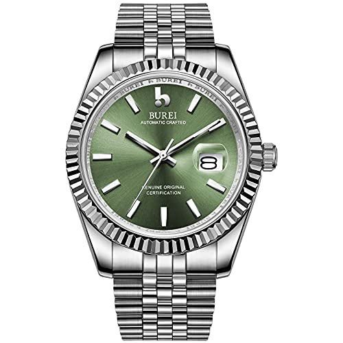 BUREI Men's Automatic Watch Elegant Model Classic Design Japanese Quartz...