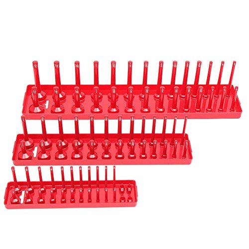 Cutowin - Soporte magnético para Llaves de Vaso (3 Piezas, 90 enchufes, Métricas/Pequeñas)