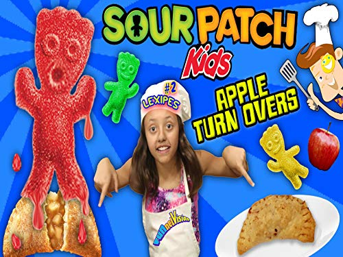 Lexi's Sour Patch Kids Gummy Baked Apple Pie Dessert Snack!