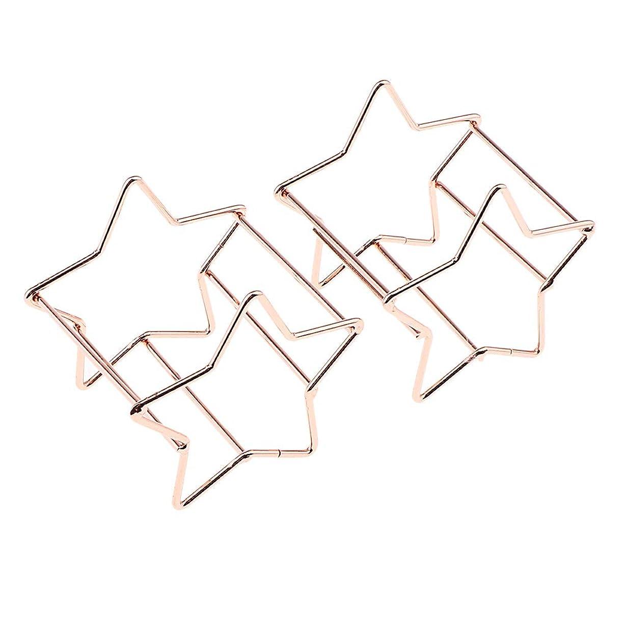 上に築きますパシフィック逆さまにP Prettyia 2個 化粧用スポンジホルダー スターシェイプ パフ乾燥ラック メイク道具 2色選べ - ローズゴールド