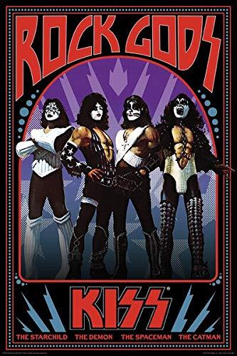 KISS Rock Gods Unisex Póster Multicolor, Papel,