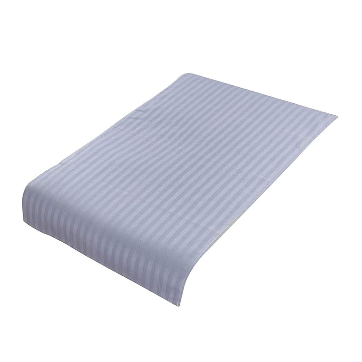 可塑性ピック恩赦PETSOLA 美容院ベッドカバー 断面 スパ マッサージベッドスカート ピュアコットン 快適 (90×60cm) - ライトブルー