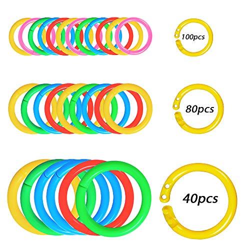 clasificación y comparación 220 anilla de encuadernación amovible de chapa con llavero de plástico 15 mm 20 mm 32 mm… para casa