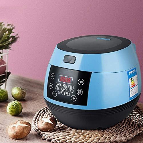 Dljyy Intelligent 3L Reiskocher mit hochwertigem Innentopf, warm halten Functio und Kuchen Funktion for 1-3 Personen, Blau (Color : Blue)