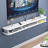 BXYXJ Mueble de TV, Mueble TV Suspendido Madera De 140 Cm, Estantes para Decodificador TV para Decodificadores/Routers/Mandos A Distancia/Reproductores De DVD/Consolas De Juegos. (Color : B)