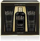 Baylis & Harding Signature Gold - Set de regalo para hombre, color negro pimienta y ginseng