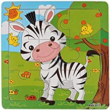 EOFK 2017 New Wooden Zebra Jigsaw Toys for Kids Education and Learning Puzzles Toys Free for Shipping Apr 10 U Must Have 6 Year Old Girl Gifts The Favourite Comic 5T Superhero Girls