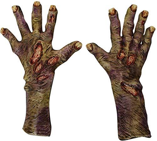 Guantes de zombie descompuesto